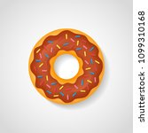 sweet donut with chocolate...   Shutterstock .eps vector #1099310168
