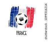 """hand written word """"france"""" with ...   Shutterstock .eps vector #1099316216"""