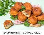 delicious fried patties with... | Shutterstock . vector #1099327322