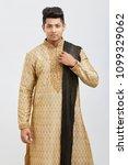 attractive happy north indian...   Shutterstock . vector #1099329062