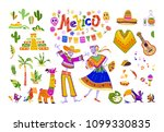 big vector set of mexico... | Shutterstock .eps vector #1099330835