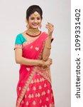 beautiful smiling indian bride...   Shutterstock . vector #1099331402