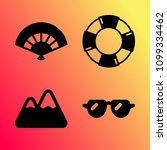 vector icon set about travel... | Shutterstock .eps vector #1099334462