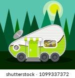 camper van at fotest. travel... | Shutterstock .eps vector #1099337372