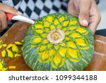 Thai Fruit Carving Is A...