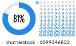 set of circle percentage... | Shutterstock .eps vector #1099346822