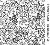 graphic floral seamless pattern.... | Shutterstock .eps vector #1099350386