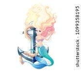 vector cartoon character cute...   Shutterstock .eps vector #1099358195