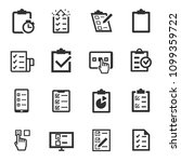 checklist  monochrome icons set.... | Shutterstock .eps vector #1099359722