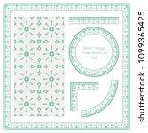 vintage border seamless pattern ... | Shutterstock .eps vector #1099365425