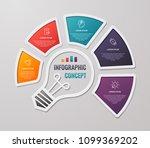 vector idea light bulb circle...   Shutterstock .eps vector #1099369202