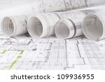 architectural project | Shutterstock . vector #109936955