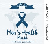 men's health month card or... | Shutterstock .eps vector #1099371896