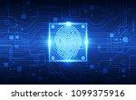 fingerprint integrated in a... | Shutterstock .eps vector #1099375916