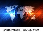 vector digital global... | Shutterstock .eps vector #1099375925