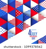 4th of july greeting on a usa... | Shutterstock .eps vector #1099378562