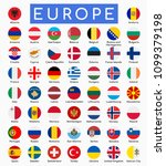 set of european countries flags ... | Shutterstock .eps vector #1099379198