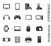 electronic devices  monochrome... | Shutterstock .eps vector #1099380662