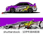 rally car vector livery.... | Shutterstock .eps vector #1099384808