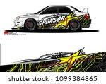 rally car vector livery.... | Shutterstock .eps vector #1099384865