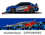 rally car vector livery....   Shutterstock .eps vector #1099384982