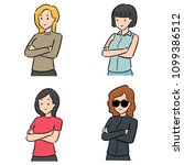 vector set of women | Shutterstock .eps vector #1099386512