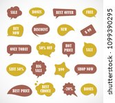 vector stickers  price tag ... | Shutterstock .eps vector #1099390295