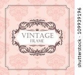 abstract vintage frame vector... | Shutterstock .eps vector #109939196