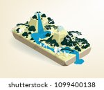 illustration vector isometric... | Shutterstock .eps vector #1099400138