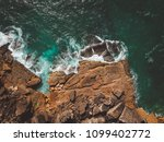 aerial view of ocean waves and... | Shutterstock . vector #1099402772