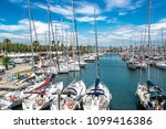 port with yachts in barcelona ... | Shutterstock . vector #1099416386