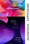 colorful abstract website... | Shutterstock .eps vector #1099418186