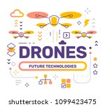 drone color concept on white... | Shutterstock .eps vector #1099423475