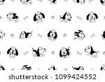 vector cartoon character hound... | Shutterstock .eps vector #1099424552