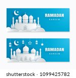 ramadan kareem greeting card...   Shutterstock .eps vector #1099425782
