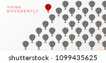 think differently concept. hot... | Shutterstock .eps vector #1099435625