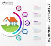 infographic design template.... | Shutterstock .eps vector #1099435628