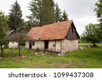 abandoned old rural house with... | Shutterstock . vector #1099437308