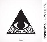 eye icon. | Shutterstock .eps vector #1099441772