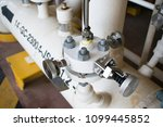4 way valve isolation valve. | Shutterstock . vector #1099445852
