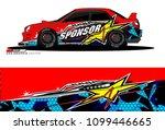 rally car vector livery....   Shutterstock .eps vector #1099446665