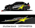 rally car vector livery.... | Shutterstock .eps vector #1099448906