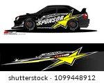 rally car vector livery.... | Shutterstock .eps vector #1099448912