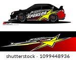 rally car vector livery.... | Shutterstock .eps vector #1099448936