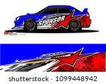 rally car vector livery.... | Shutterstock .eps vector #1099448942