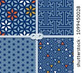 traditional seamless patterns... | Shutterstock .eps vector #1099450028