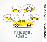 car insurance services. vector... | Shutterstock .eps vector #1099451102