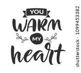 hand drawn word. brush pen... | Shutterstock .eps vector #1099453382