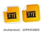 clearance sale stickers | Shutterstock .eps vector #1099453805