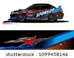 rally car vector livery.... | Shutterstock .eps vector #1099458146